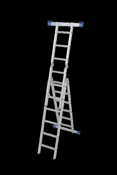 Krause STABILO Sprossen-Gelenk-CombiLeiter 2 x 3 und 2 x 6 Sprossen Arbeitshöhe 5,30 m