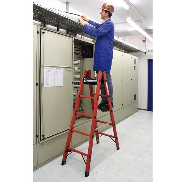 Günzburger Kunststoffleiter Sprossen-Stehleiter beidseitig begehbar