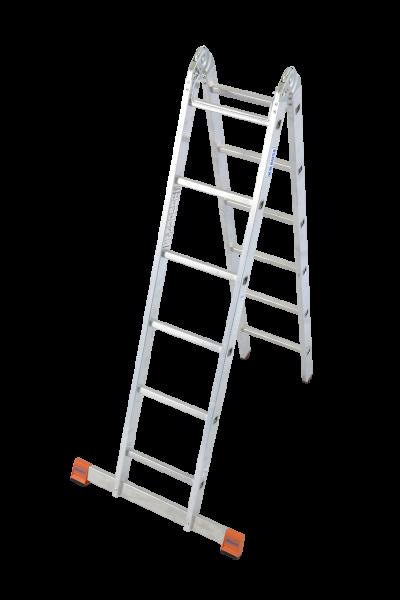 Krause MONTO Sprossen-Gelenk-Doppelleiter TriMatic