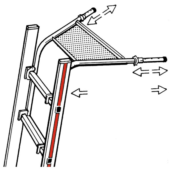Hymer Wandabstandshalter teleskopierbar für Sprossenleitern