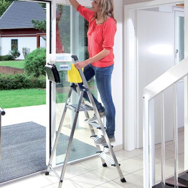 Krause Stufen-Stehleiter Secury mit 10 cm breiten Stufen