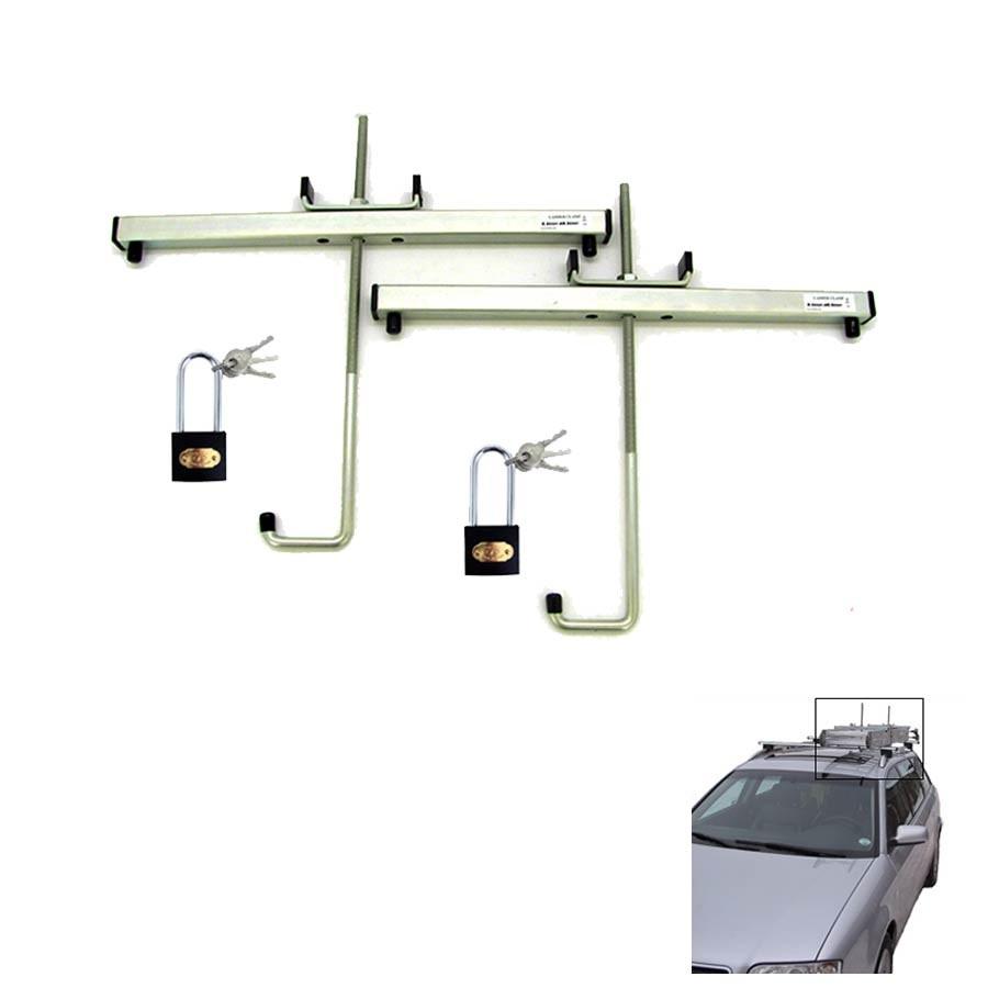 Leiterkönig - Ademia GmbH Leiterhalter für Autodach mit zwei Schlössern
