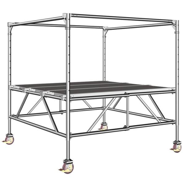 Layher Fahrgerüst Staro Rollbock Arbeitshöhe bis 3,90 m