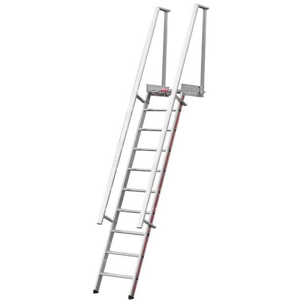 Hymer 8060 Stufenaufstieg mit Plattform, Anstellwinkel 68°