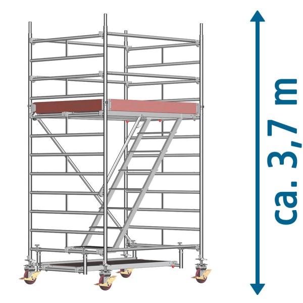 Layher Fahrgerüst Uni Komfort Treppengerüst