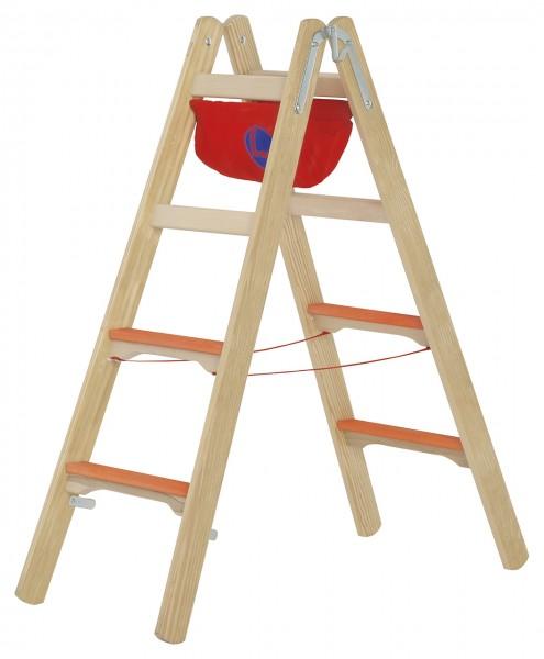Hymer Holzleiter Tiefsprossenstehleiter
