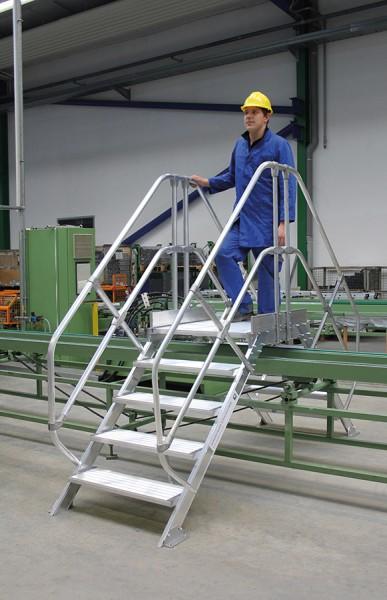 Günzburger Aluminium-Überstieg stationär oder fahrbar 45°