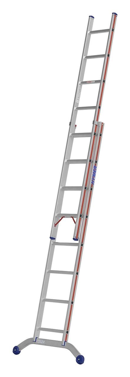 Hymer Schiebeleiter, zweiteilig 6046 2x8 Sprossen Arbeitshöhe 4,42 m