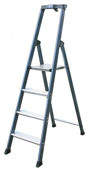 Krause Monto Stufen-Stehleiter SePro S eloxiert für saubere Hände