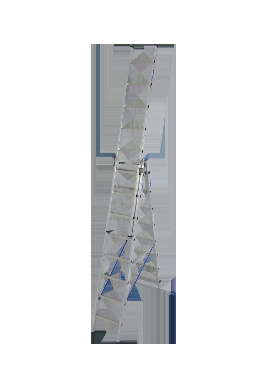 krause sprossen-vielzweckleiter 3-teilig mit treppenfunktion bei