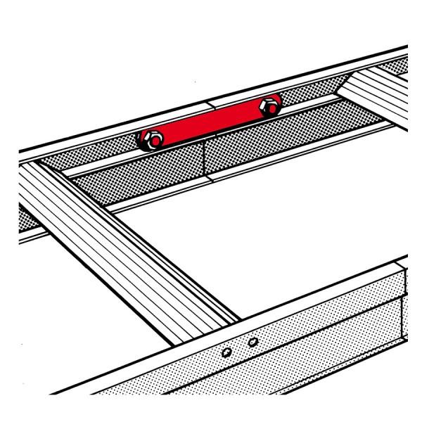 Hymer Verbindungslasche zur Verflanschung von Dachleitern