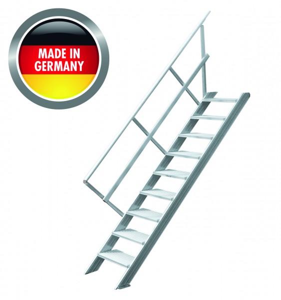 Hymer Treppe stationär ohne Podest, 45°