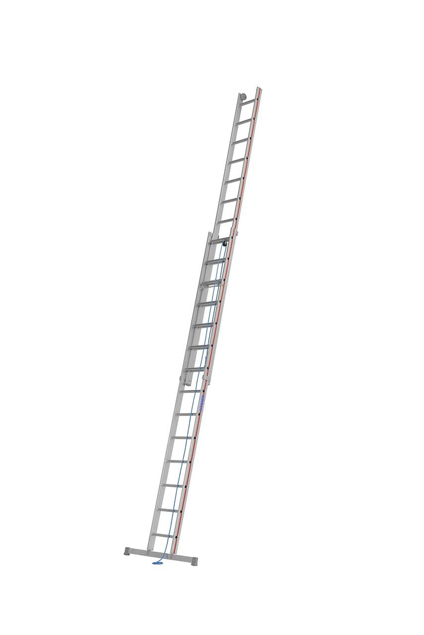 Hymer Seilzugleiter, zweiteilig 4051 2x18 Sprossen Arbeitshöhe 9,36 m
