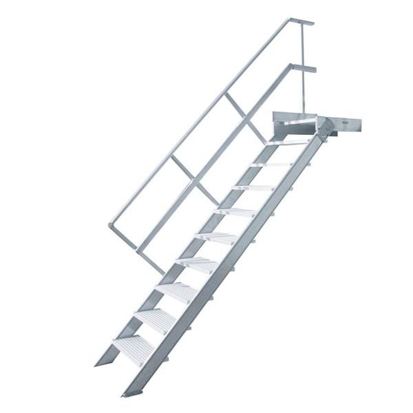 Hymer Treppe stationär mit Podest, 45°