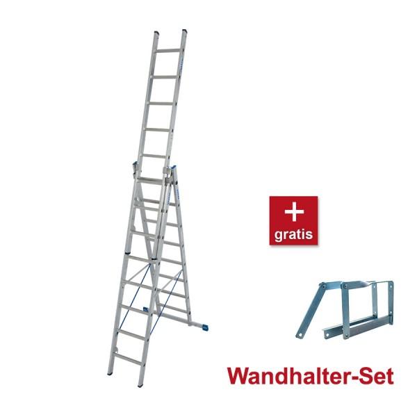 Krause STABILO Sprossen- Vielzweckleiter 3-teilig inkl. gratis Wandhalterung