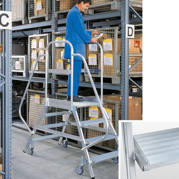 Günzburger Aluminium-Podestleiter beidseitig begehbar