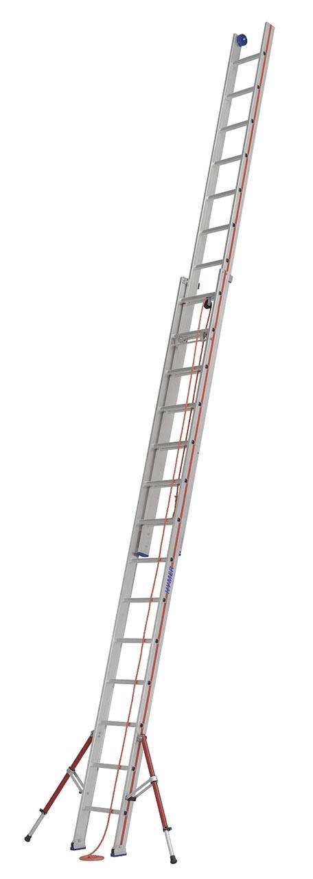 Hymer Seilzugleiter, zweiteilig 6051 2x18 Sprossen Arbeitshöhe 9,37 m