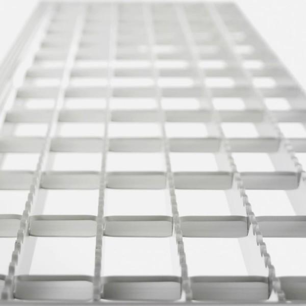 Günzburger Stufenbelag für Aluminium-Industrietreppen