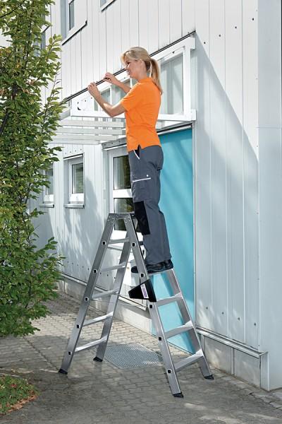 Günzburger Profi Stufen-Stehleiter beidseitig begehbar