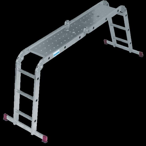 Krause Corda Gelenk-Universalleiter 4 x 3 Sprossen inkl. Plattform