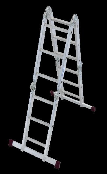 Krause Corda Gelenk-Universalleiter 4 x 3 Sprossen Arbeitshöhe 4,40 m