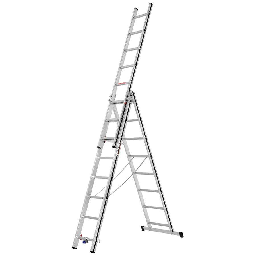 Unterschiedlich Alu-Pro Allzweckleiter 3-teilig vom Leiterkönig.de | Leiterkoenig.de VV84